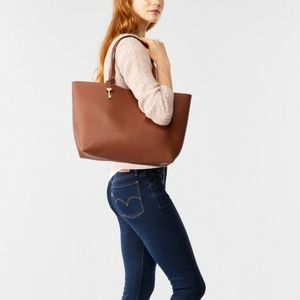 Fossil brown leather 'Rachel' tote bag